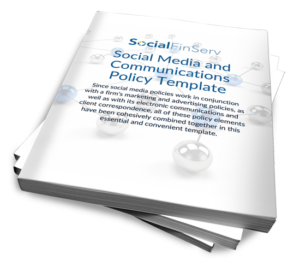 since social media policies work in conjunction with a firms marketing and advertising policies as well as with its electronic communications and client